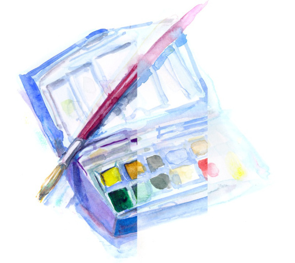 watercolor stages