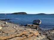 the ubiquitous Balance Rock, on the shore path in Bar Harbor