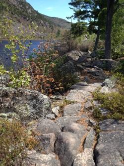 rocky trail by Jordan Pond