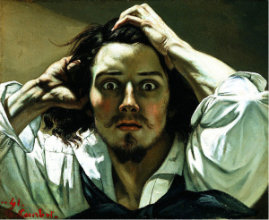 Gustav Courbet,  Self-portrait (The Desperate Man), c. 1843–1845 (Private collection)