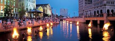 Waterfire in downtown Providence